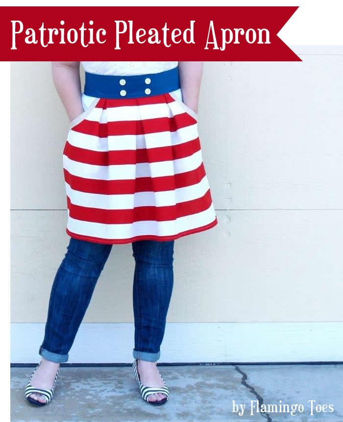 Patriotic Pleated Apron