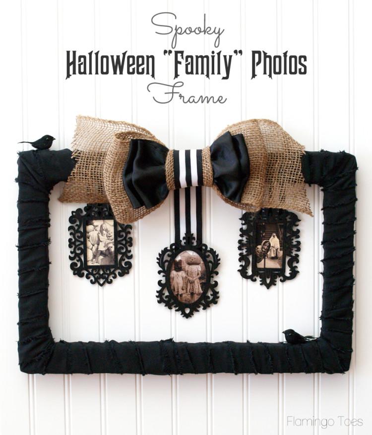 Spooky Halloween Family Photos Frame