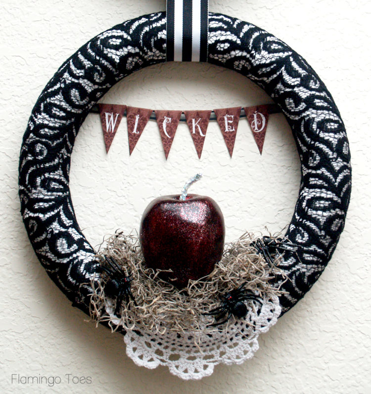 Wicked Wreath by Flamingo Toes