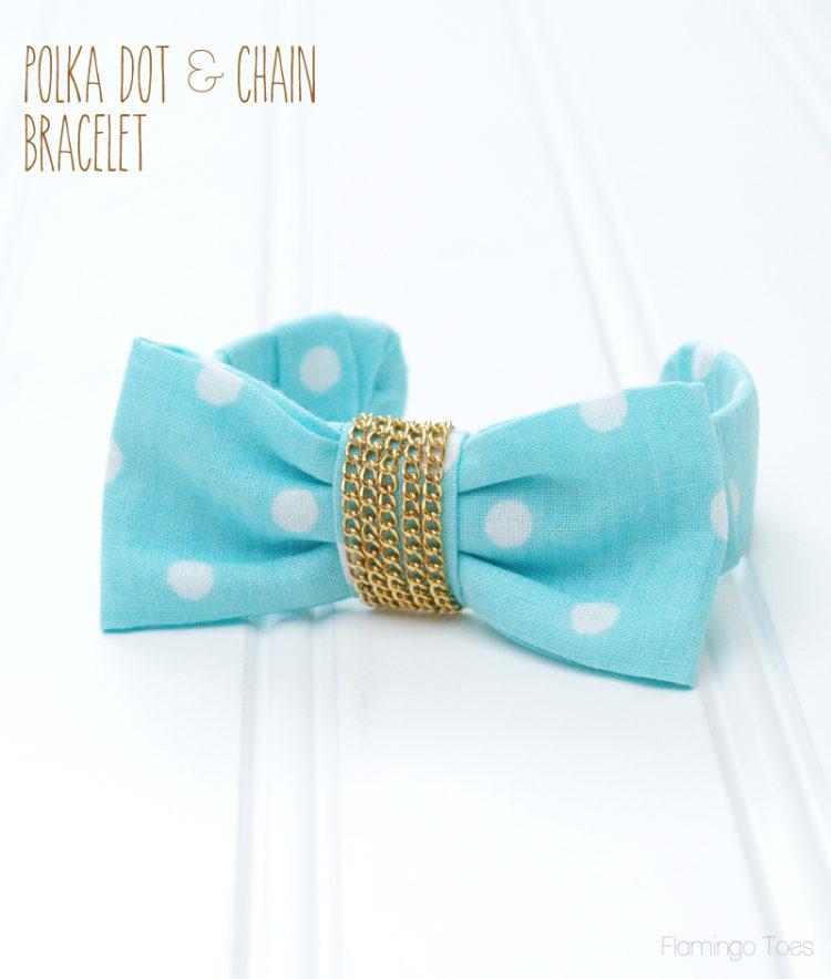 Polkadot and Chain Bracelet