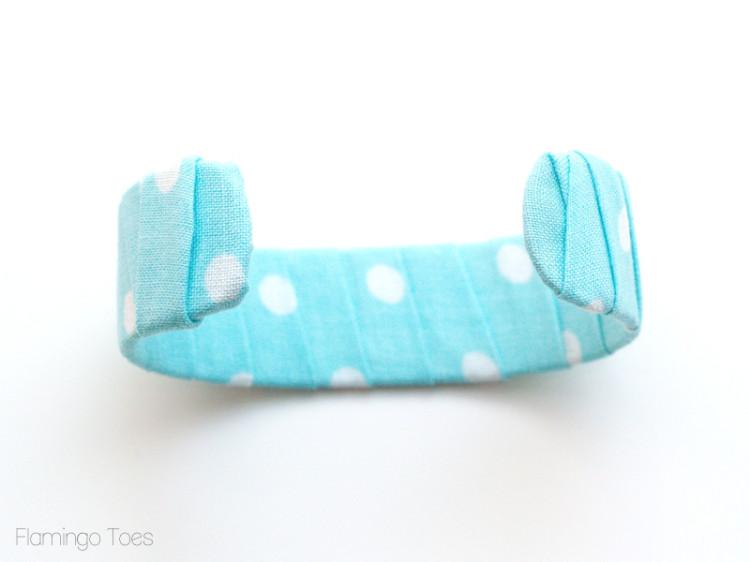 fabric wrapped bracelet