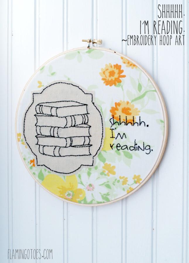 Shhhhh I am Reading Hoop