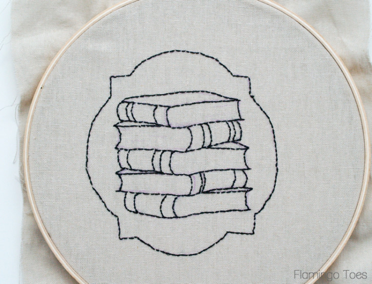 Stacked book Embroidery