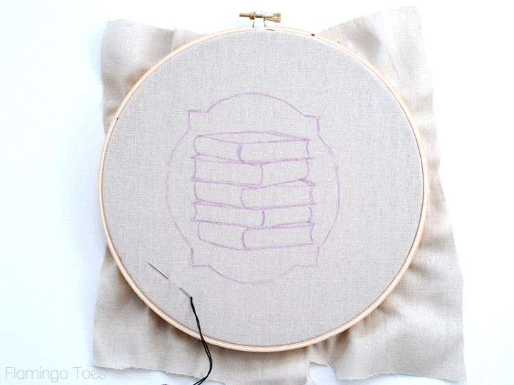 stacked books pattern