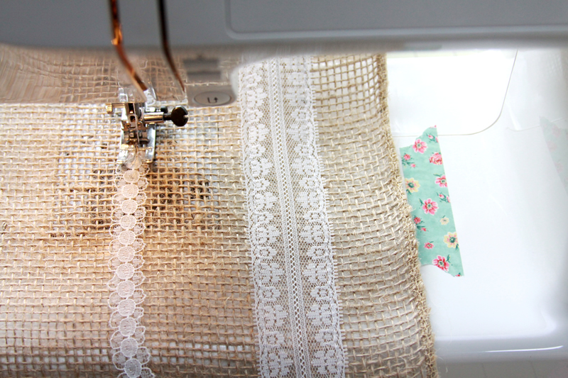 Sewing Lace in Straight Lines