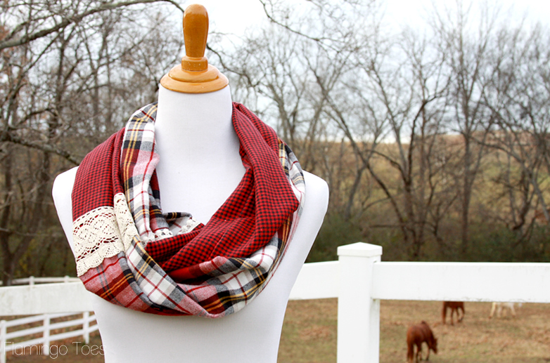 Easy DIY Flannel Infinity Scarf
