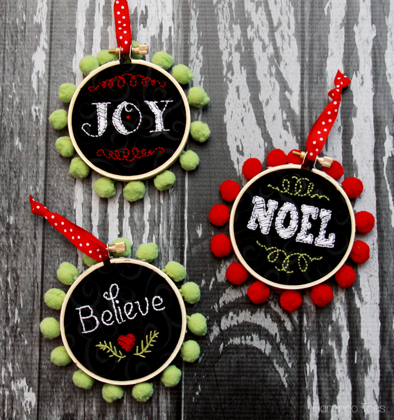 Faux Chalk Christmas Ornaments