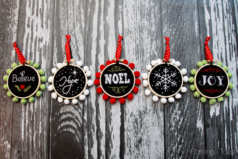 Mini Chalk Ornaments