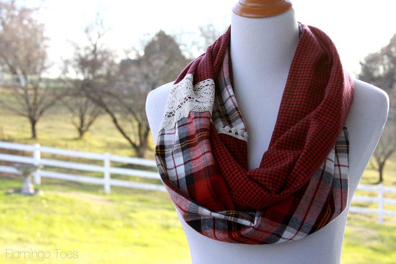 Simple Plaid Infinity Scarf