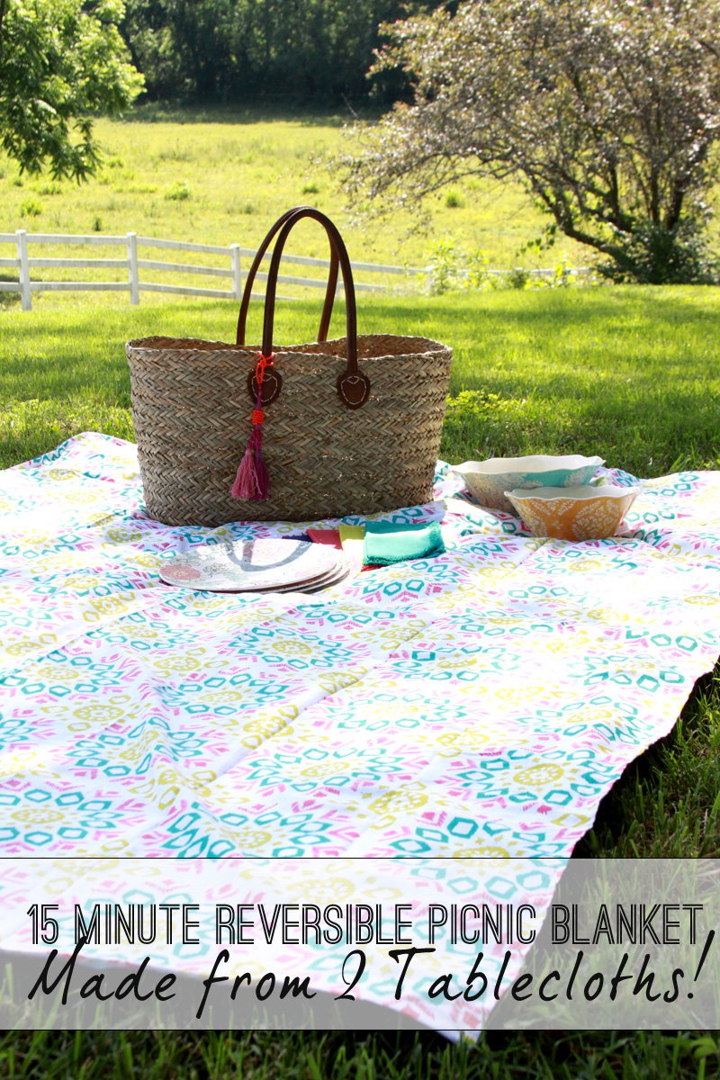 DIY Reversible Picnic Blanket
