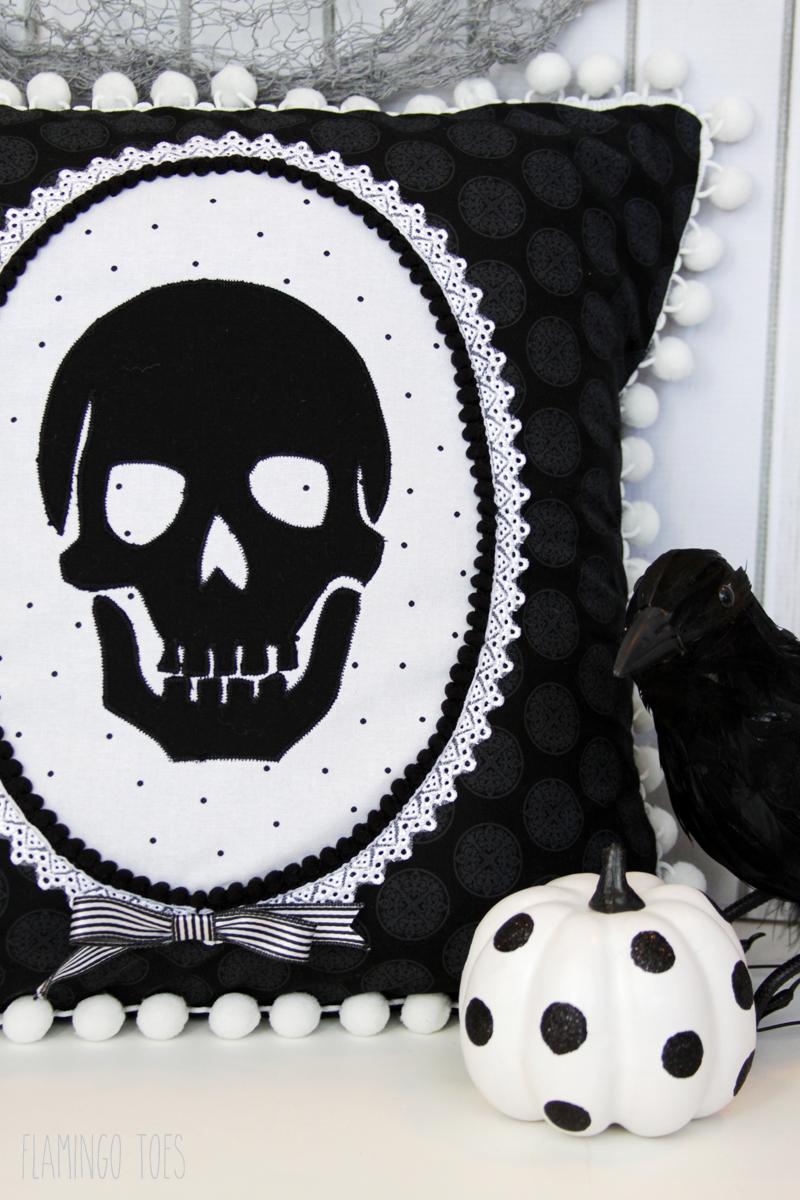DIY Skeleton Cameo Pillow