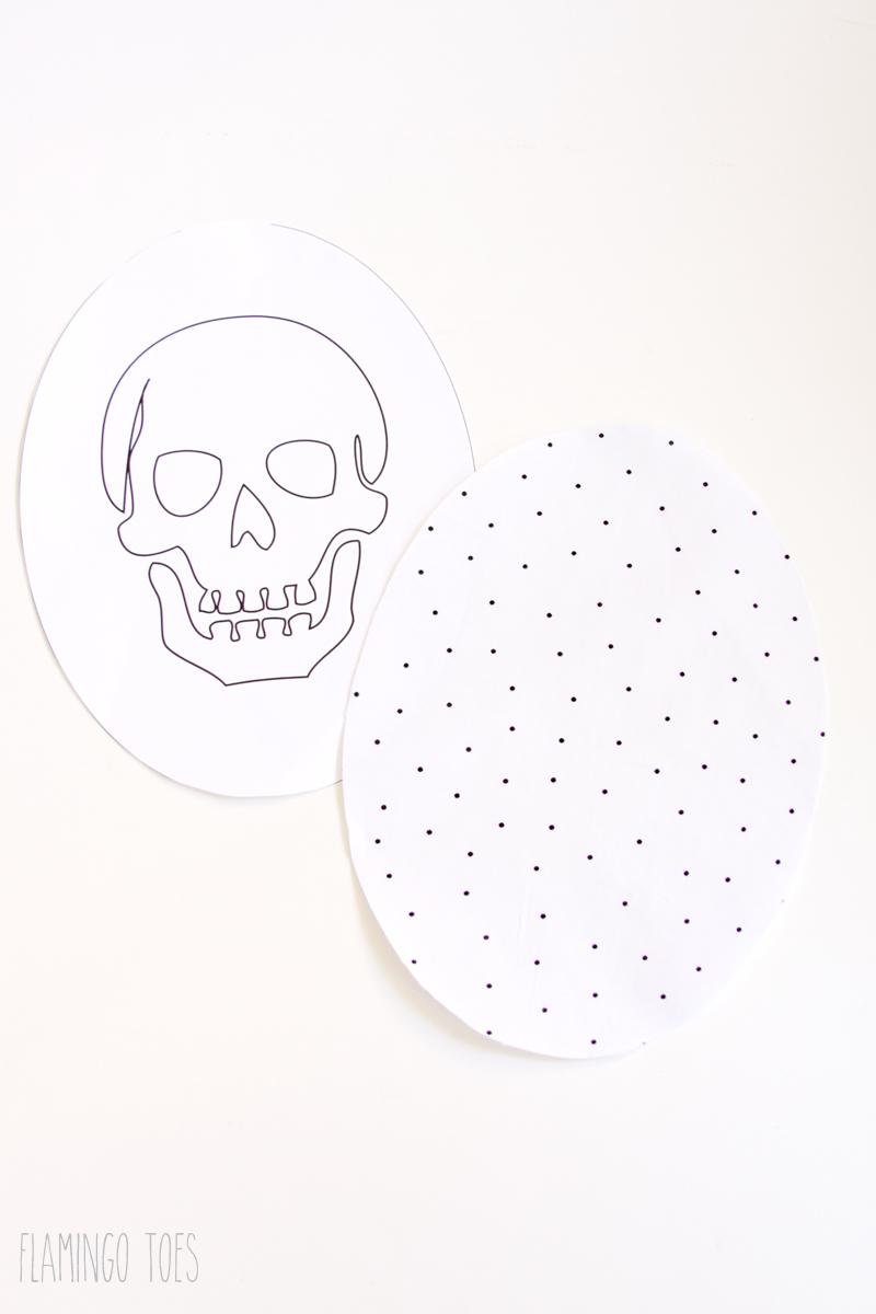 Fabric Skull for Pillow