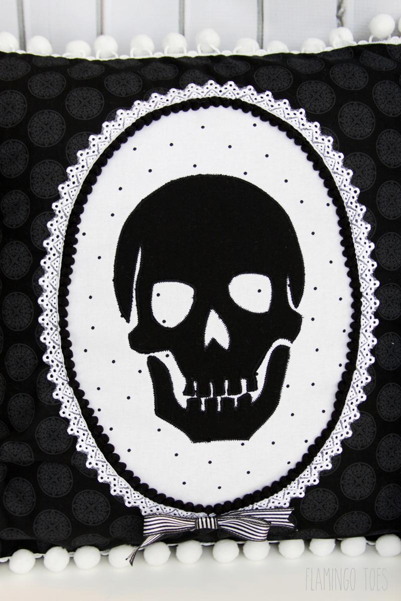 Skeleton Halloween Pillow