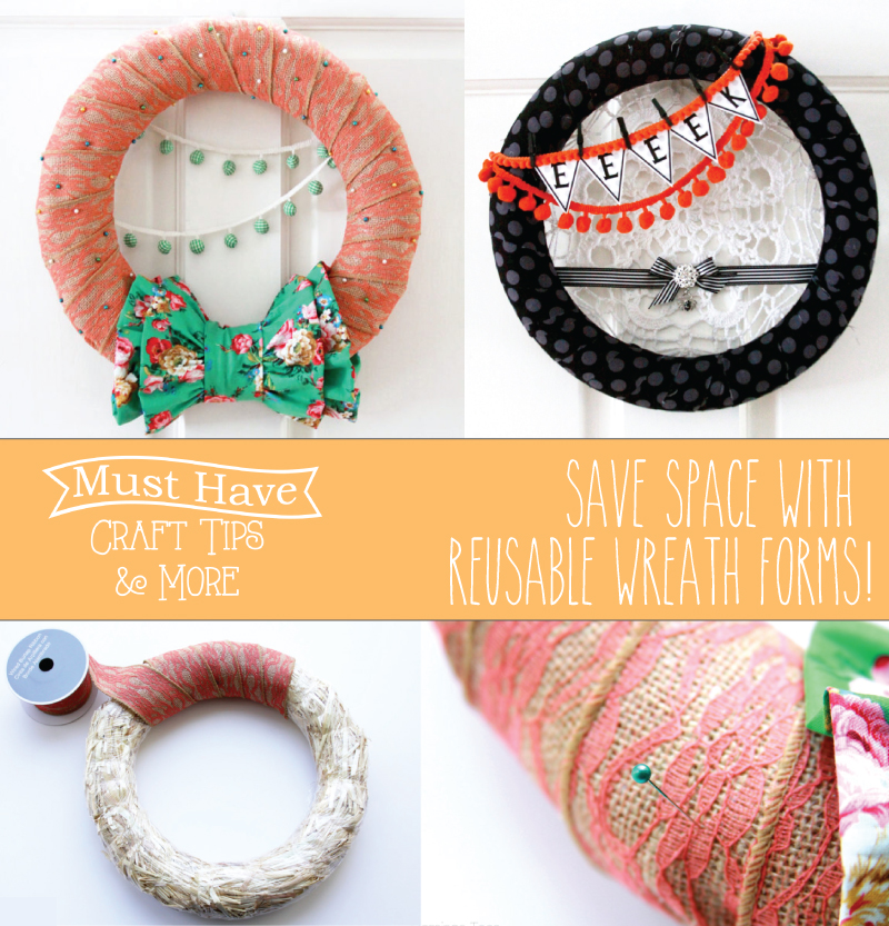 Save Space with Reusable Wreath Forms